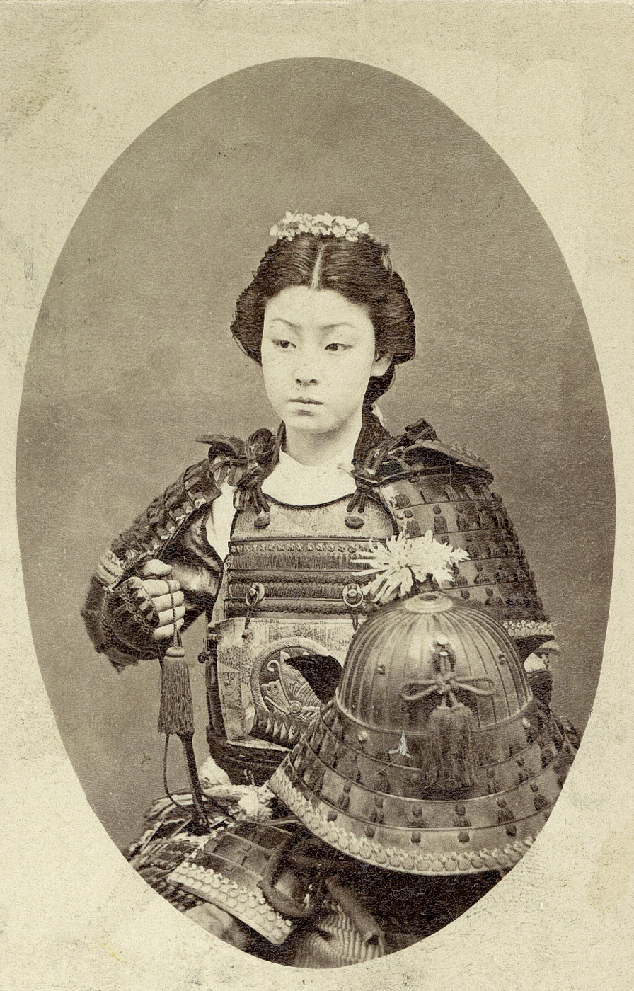 Rare photograph of an onna-bugeisha